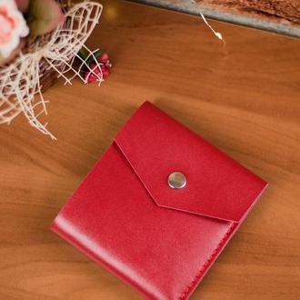Кожаный женский кошелекRubakha Красный (JkK002)