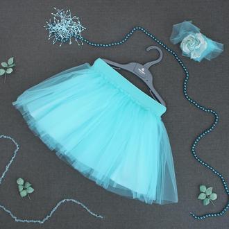 Пышная фатиновая юбка на трикотажной подкладке.
