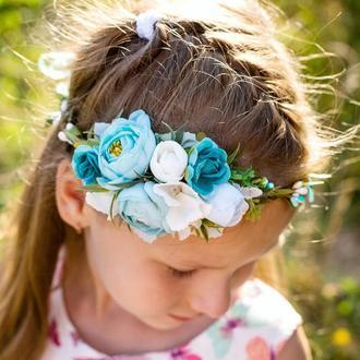 Віночок на голову для дівчинки, на день народження, фотосесію, випускний/ Венок для волос