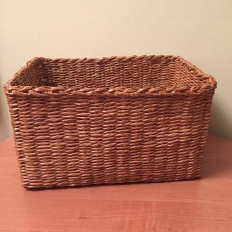 Коробка плетёная из бумажной лозы, ящик для хранения