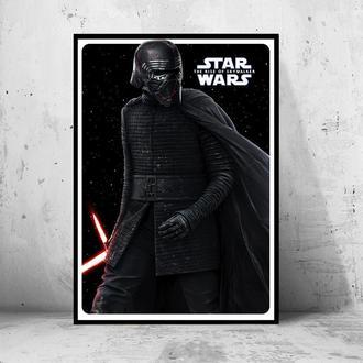 """Постер """"Star Wars: the Rise of Skywalker / Звездные Войны: Скайуокер. Восход"""" (Kylo-Ren)"""