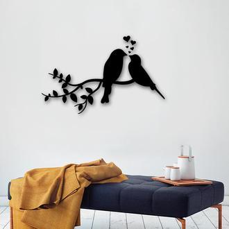 """Деревянная картина-панно """"Birds Love"""""""