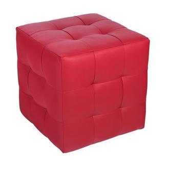 Пуф  Токио Красный матовый Экокожа 40х40х42 см. Готовые дизайнерские решения.