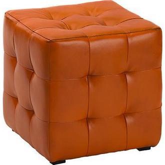 Пуф  Токио Оранжевый 40х40х42 см. Готовые дизайнерские решения.