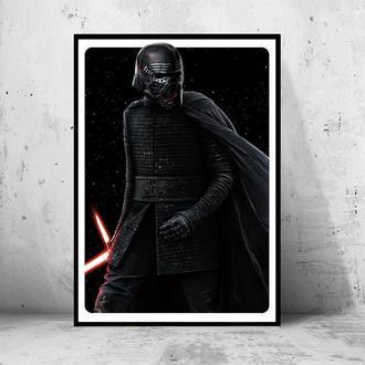 "Постер ""Star Wars: the Rise of Skywalker / Звездные Войны: Скайуокер. Восход"" (Кайло Рен)"