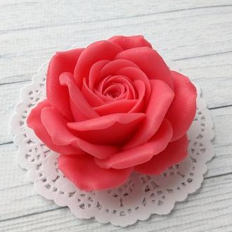 Сувенирное мыло: роза в упаковке купол