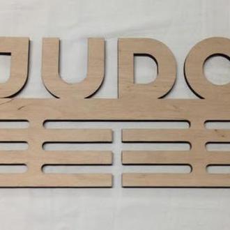 Вешалка для медалей (дзюдо) из Еко-фанеры на подарок для чемпинонов.