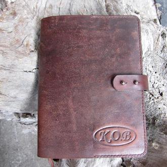 кожаные блокноты-обложки-,блокноты в подарок,подарки для шефа,обложка кожаная для блокнота
