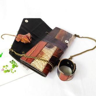 Кожаная сумка - клатч