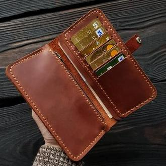 Кошелек  портмоне натуральная  кожа с гравировкой