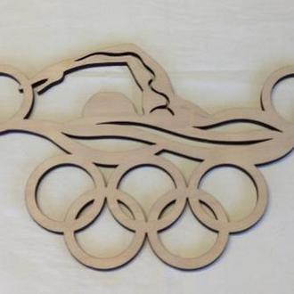 Вешалка для медалей( плавание) из Еко-фанеры