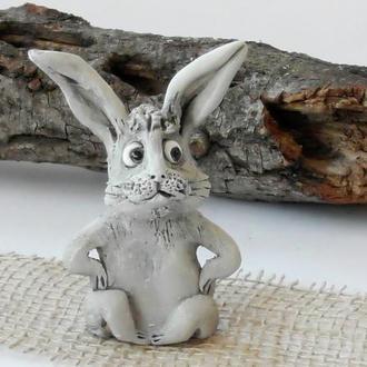 Фігурка Заєць подарунок зайчик сірий