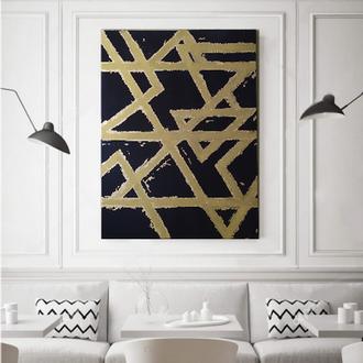 Картина абстракция черная