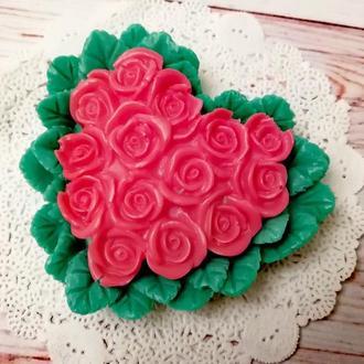 Сердце из роз мыло