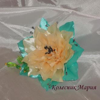 Цветочек Лилия украшение для волос (основа на выбор)