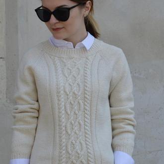 Базовый свитер из натуральной пряжи