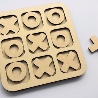 Настольная игра Крестики-нолики из дерева