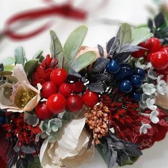 Венок украинский на голову с цветами