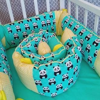 "Бортик ""Панда"" на детскую кроватку"