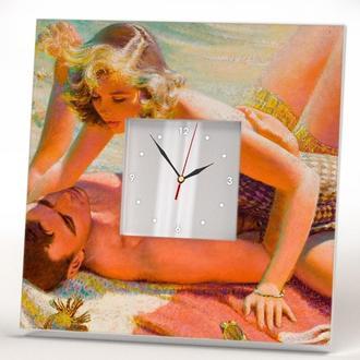 """Стильные настенные часы """"Ты меня любишь?"""""""