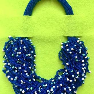 Fish_ka blue (универсальное ожерелье)