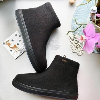 Мужские ботинки из натуральной шерсти