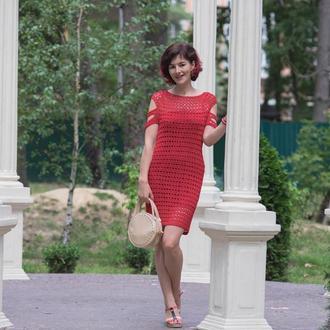 Вязаное платье (ажурное платье)