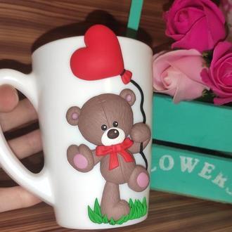 Чашка с Тедди ко дню Св. Валентина
