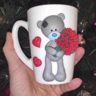 Чашка с мишкой Тедди