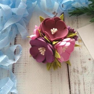 """Цветы на резинке """"Весенний вальс"""", резинки для волос, резинки для девочки"""