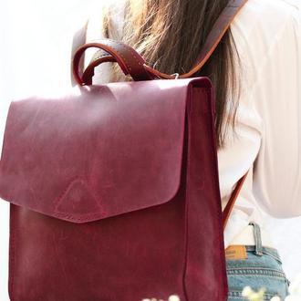 Кожаный женский рюкзак. Кожаный рюкзак Универсал.