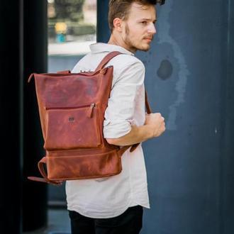 """Кожаный рюкзак """"Кадр"""""""