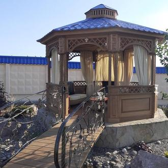 Беседка садовая из ясеня. Строительство под ключ Одесса