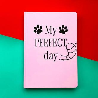 """Щоденник Хвіст та Вуса Diary """"My perfect day"""" недатований українською мовою Рожевий"""
