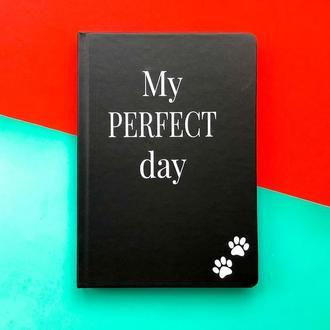 """Щоденник Хвіст та Вуса Diary """"My perfect day"""" недатований українською мовою Чорний"""