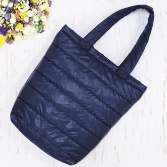 Стеганная сумка Small синяя