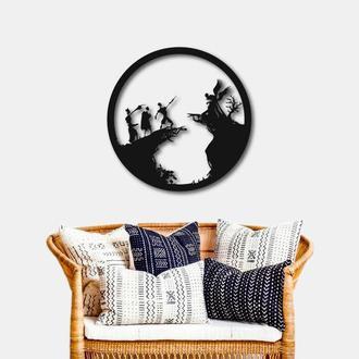 Деревянное панно на стену. Деревянный настенный декор для дома. Гарри Поттер Дары Смерти