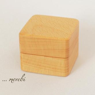 Футляр коробочка шкатулка шкатулочка для обручального кольца , для кольца на свадьбу из дерева