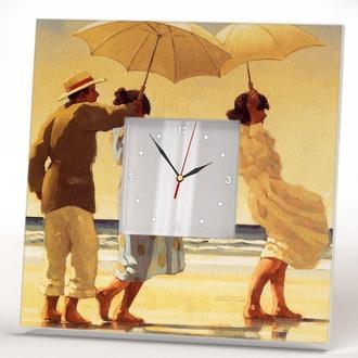 """Часы с рисунком """"Под зонтом"""""""
