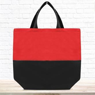 """Эко-сумка шоппер """"Lazer"""" красная"""