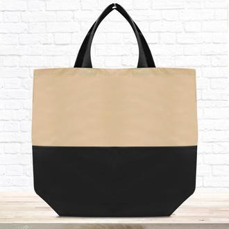 "Эко-сумка шоппер ""Lazer"" бежевая"