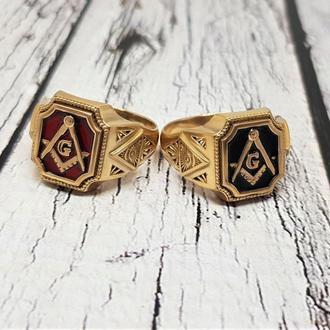 Масонская печатка кольцо