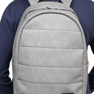 Мужской новый серый рюкзак из нубука