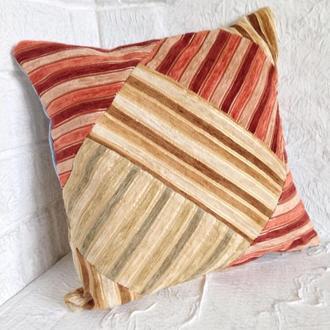 Подушка для дивана пэчворк двухсторонняя