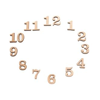 Цифры из фанеры, высота 40 мм. Заготовка для часов