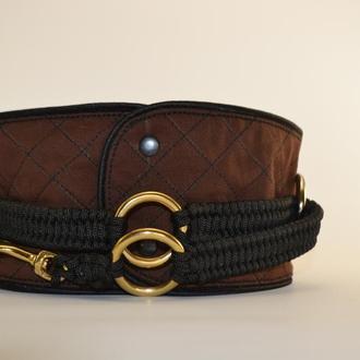 Brown Poodle's collar, mod. Helen, Ошейник для Пуделя