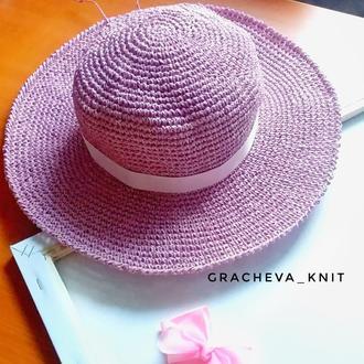 шляпа летняя женская , с большими полями