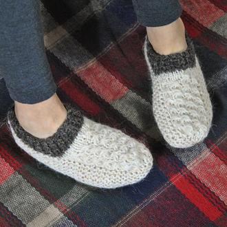 Вязаные носки из натуральной шерсти