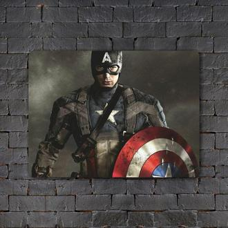 Постер (картина) табличка — CAPTAIN AMERICA (2)