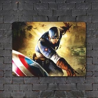Постер (картина) табличка — CAPTAIN AMERICA